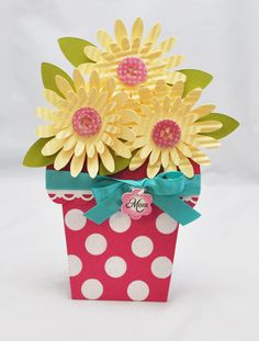 Flower Pot Card For Mom~ beyond cute!