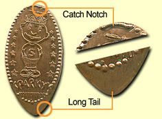 The length of the tail also depends upon the coin that you use. A pre-1982 copper penny will typically be shorter than a post-1982 zinc penny because zinc is softer than copper and will elongate more. However, you could run 50 copper pennies and each might have a slightly different tail length because the amount of copper in the pennies will also vary. Use copper for short tails and zinc for long tails.