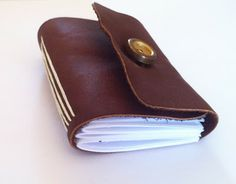 how to make a sewn leather notebook