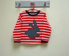 Sloppy Joe Top with Bunny Applique pdf sewing pattern for boys and girls, children's sewing pattern sizes 6 months to 10 years. https://www.etsy.com/listing/123180252/sloppy-joe-top-with-bunny-applique-pdf?ref=shop_home_active_10