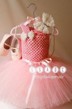 tutu dress pink tutu Dress diaper cake by Gottagetadiapercake