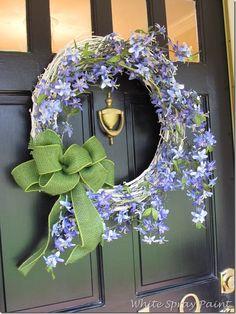 adoor wreath, spring wreaths