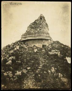 """""""El Caracol o Templo Masonico,"""" Désiré Charnay, 1882"""