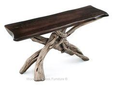 Driftwood Sofa Table, Organic Table, Natural Wood, Beach | Woodland Creek Furniture