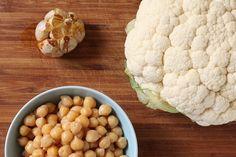 Roasted Garlic, Cauliflower & Chickpeas