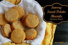 Savory Sweet Potato Biscuits (grain free) / savorylotus.com