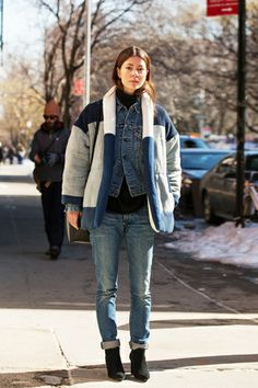 Style Tip Of The Day: The Ultimate, Cold-Fighting Layering Trend #refinery29