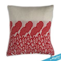 knitted city cushion
