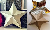 cardboard star made from cereal boxes