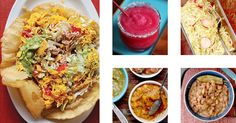 Just what you need to survive the rest of February - puffy chicken tacos, spicy-sweet mango habanero salsa, and plenty of prickly pear margaritas.