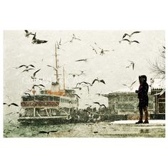 Wall decor  istanbul Winter Photography  falling snow by gonulk, $50.00