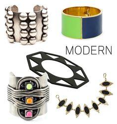 """Arm party"" bracelets."