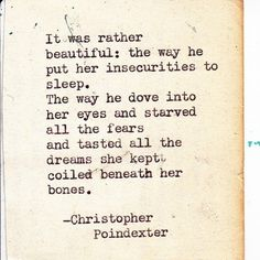 By Christopher Poindexter. That's the kind of man you want on your side.