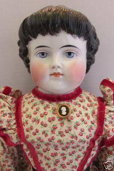 Beautiful Kling Antique China Head Doll Highland Mary C 1880 | eBay