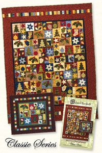 """Merry Christmas Pattern by Lunch Box Quilts at KayeWood.com.This pattern collection contains eight Christmas embroidery machine appliqué designs. Two patterns are included to make either a 36"""" x 33"""" wall hanging or a 62"""" x 80"""" quilt. This pattern does not contain the CD-ROM or electronic files. It contains eight full size applique shapes for use with your favorite method of applique. http://www.kayewood.com/item/Merry_Christmas_Quilt_Pattern/3320 $18.00"""