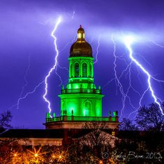 "Amazing shot of an ""electrifying"" moment at #Baylor University's Pat Neff Hall"
