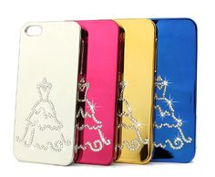 Series d bling crystal iphone case for iphone gold wedding dress