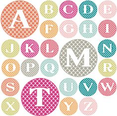 Love these monograms!  And they're a free download.  Score!