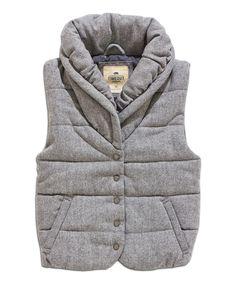 Light Gray Button-Up Vest