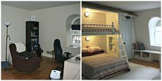 This is an awesome built-in bed/closet combo.