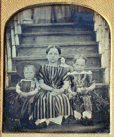 creepy photographs, stair, head doll, oldest girl, photo iv