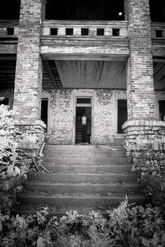 Greeter at Bovine Mansion    After discovering the Pike County Plantation and that it was currently occupied by cows I knew I had to get a closer shot of one standing in the doorway or a window. Luck would have it that this one was cooperating and gladly posed for me in the doorway! Located in Pike County Missouri.