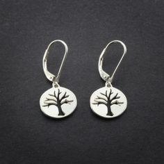 Tree Earrings Sterling Silver