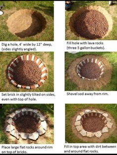 Fire Pit Ideas Cheap | via tory pickle