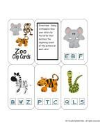 Beginning sound zoo cards.