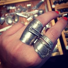 dragonflies made out of silverware | jewelry made out of antique silverware # rings # jewelry # silverware ...