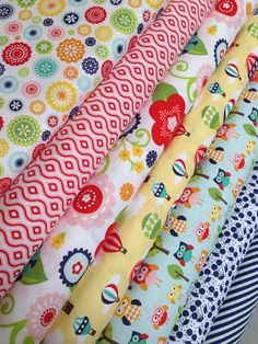 Lazy Day Fabric by  Lori Witlock by Riley Blake Fabrics- Fat Quarter bundle- 7 total on Etsy, $21.00