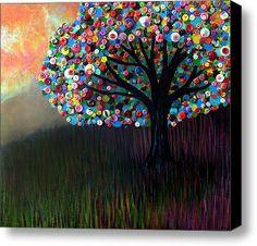 tree button art