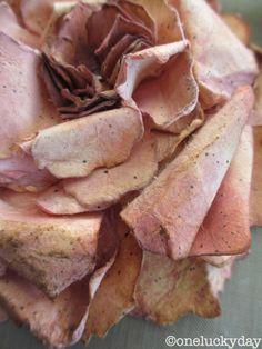 Jumbo Tattered Flowers die tutorial