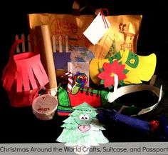 Christmas Around The World Unit - Includes suitcase, passport, country ...