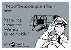 The zombie apocalypse is here?