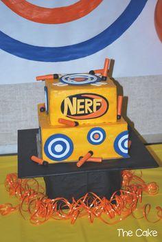 nerf gun birthday party, nerf gun cake, nerf cakes, nerf parti, birthday parties