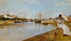 """""""Vue du petit port de Lorient"""" (1869) par Berthe Morisot, à la National Gallery of Art"""