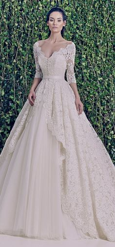 Oh. My. Gosh. This is amazing. Holy moly. Zuhair Murad Bridal F/W 2014-2015 2014 wedding gowns, wedding dressses, 2015 bridal gowns, ball dresses, zuhair murad wedding dress, lace dresses