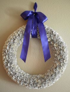 18 Book Page Rosette Wreath by PracticallyWhimsical on Etsy, $50.00