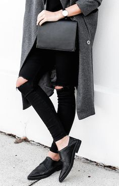 Flats and skinny jeans