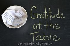 Set the stage for a peaceful family dinner by expressing gratitude at the beginning of the meal. Fantastic ideas for both secular and religious families.