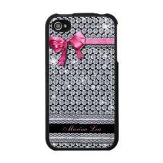 Diamond pink iPhone4 Case [customi... - Customized