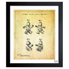 A nostalgic touch for your living room or den, this handsome print showcases a patent drawing reproduction and sleek black frame. P...