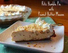 RITZ Humble Pie with Peanut Butter Mousse from www.reneeskitchenadventures.com   A lighter version of the pie developed by Serendiptiy 3 for #RitzNYBlitz #Ritzallstars #dessert #footballfood
