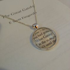 The Great Gatsby 'What Gatsby' Necklace by GlamorousGlueDesigns