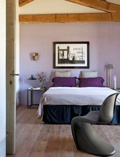 decor, rustic tuscany bedrooms, silla panton, design bedroom, rustic farmhouse