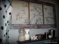 stencilled old window