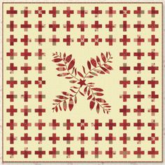 new stuff, nightingal, color quilt, white quilt, red