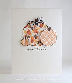 thanksgiving card or scrapbook embellishment idea