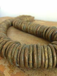 Nigerian brass necklace www.kimfiscus.com